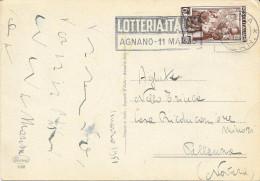 LOTTERIA ITALIA AGNANO 1951 TARGHETTA MECCANICA - Affrancature Meccaniche Rosse (EMA)