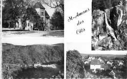 12 - ST AMANS DES CÔTS: Multivues Dentelée Noir Et Blanc - CPSM CPA 1955 - Aveyron - France