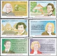 Kuba 4043-4048 (kompl.Ausg.) Postfrisch 1997 Komponisten - Ungebraucht