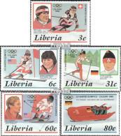 Liberia 1355-1359 (kompl.Ausg.) Postfrisch 1987 Olympische Winterspiele '88 - Liberia