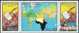 Libyen 621-623 Dreierstreifen (kompl.Ausg.) Postfrisch 1977 Das Grüne Buch Von Gaddhafi - Libië
