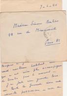 Lettre Franchise Cachet Poste Aux Armées 8/6/1940 Pour Paris - WW II