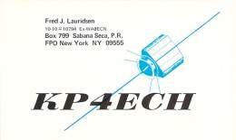 Amateur Radio QSL Card - KP4ECH - Savana Seca, Puerto Rico - 1975 - 2 Scans - Radio Amateur