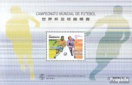 Macau Block56 (kompl.Ausg.) Postfrisch 1998 Fußball-WM '98 - Blocks & Kleinbögen