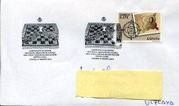 11539  Spain, Special Postmark 2013,  Chess,  Eches,  Schach, Linares - Schaken