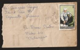 E)1971 CUBA, MANNED SPACE FLIGHT 10TH ANNIV, COSMONAUTS IN TRAINNING, SC 1609 A422,  CIRCULATED COVER TO MATANZAS, XF - Kuba
