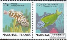 Marshall-Inseln 152D/154D Postfrisch 1988 Fische - Marshall