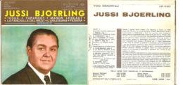 """JUSSI BJOERLING - TOSCA-TURANDOT-MANON LESCAUT NM/NM 7"""" - Opera"""