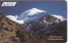 ANDORRA(chip) - Mount, Pic De La Serrera, Tirage 20000, 04/00, Used - Mountains