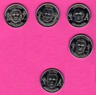 Lot De 5 Médailles Des Joueurs De Foot De L´équipe De France - 1999 - Francia