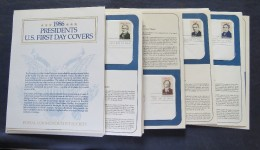 USA 1986 Presidents Of The United States - 40 FDC Covers. - Etats-Unis