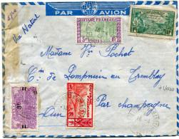 GUYANE LETTRE PAR AVION CENSUREE DEPART ST LAURENT DU MARONI 16-4-40 GUYANE FRANCAISE POUR LA FRANCE - Guyane Française (1886-1949)