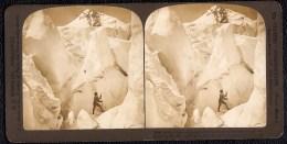 STEREOSCOPIE OREGON USA - ELLIOT GLACIER -  ANIMATED - Mountain Climbing - - Etats-Unis