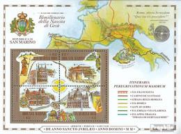 San Marino Block27 (kompl.Ausg.) Postfrisch 2000 Heiliges Jahr - Neufs