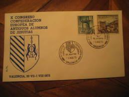 VALENCIA 1973 Congreso Hermanos Jesuitas Europa Europe Cancel Cover España Spain - 1971-80 Lettres