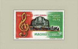 Hungary 1975. Music Stamp MNH (**) Michel: 3080 / 0.30 EUR - Ungebraucht