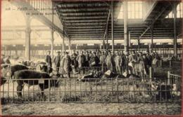 PARIS XIXè - Les Abattoirs De La Villette - Un Jour De Marché - Très Animée, Vaches - Arrondissement: 19