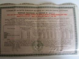Conseil De La Dette Publique Répartie De L'Ancien Empire Ottoman - Récépissé N°009741 Du 15 Mars 1925 - Asie