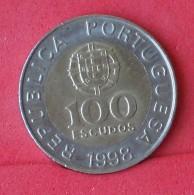 PORTUGAL 100 ESCUDOS 1998 -    KM# 645,1 - (Nº15383) - Portugal