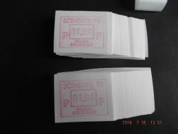 SCINDAFIL ´90. E Papier. 200 X - Vignettes D'affranchissement