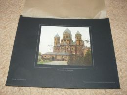 Abteikirche Maria Laach Germany Photo Foto Print Aus 1922 In Karton Carton 36 X 27,5 Cm - Lugares
