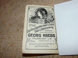 Georg Krebs Frankfurt Am Main Cigarren Cigaretten Import Export Smoking Werbung Germany 1914 - Publicidad
