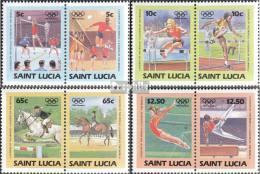 St. Lucia 664-671 Paare (kompl.Ausg.) Postfrisch 1984 Olympische Sommerspiele '84 - St.Lucia (1979-...)