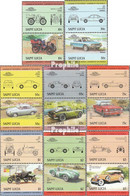 St. Lucia 696-711 Paare (kompl.Ausg.) Postfrisch 1984 Autos - St.Lucia (1979-...)