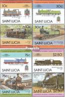St. Lucia 775-782 Paare (kompl.Ausg.) Postfrisch 1985 Lokomotiven - St.Lucia (1979-...)