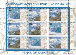 Tadschikistan 109-111 Kleinbogen (kompl.Ausg.) Postfrisch 1997 Pamirgebirge - Tadschikistan
