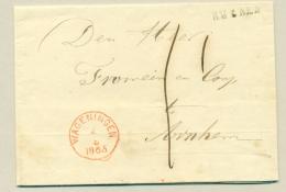 Nederland - 1865 - Complete EO-vouwbrief Van Rhenen Via Wageningen Naar Arnhem - Nederland