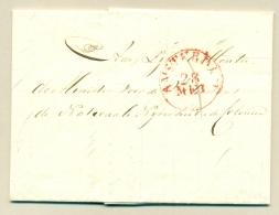 Nederland - 1834 - EO-cover Van Amsterdam Naar Den Haag - ...-1852 Voorlopers