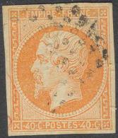 # France 18, Used, VF, Sound, 4margins, Sound,SCV$12..... (fr018-5, Michel 15..... [16-AB - 1853-1860 Napoleon III