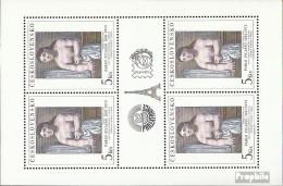 Tschechoslowakei Mi.-Nr.: 2645Klb II Kleinbogen Postfrisch 1981 Kunst - Tchécoslovaquie
