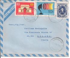 "ARGENTINA - PESOS 50+20+20, 1970,VIA  AEREA,CAMPANA ""B.A."" BUENOS AIRES - MILANO, - Argentina"