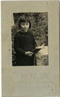 CDV Début XXe-portrait D´enfant-fillette Lisant-photo Gallot à Nantes-dos Vierge - Anonymous Persons