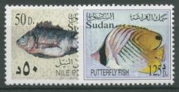 Sudan 2003 Fische Nigerbarsch Blaumaskengaukler 564 + 569 Postfrisch - Sudan (1954-...)