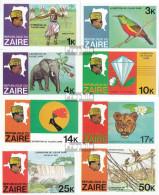 Zaire 589B-596B (kompl.Ausg.) Ungezähnt Postfrisch 1979 Flussexpedition Aus Dem Zaire - Zaire
