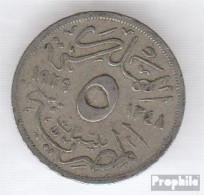 Ägypten KM-Nr. : 346 1933 Sehr Schön Kupfer-Nickel Sehr Schön 1933 5 Milliemes Fuad I. - Aegypten