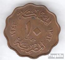 Ägypten KM-Nr. : 361 1938 Sehr Schön Bronze Sehr Schön 1938 10 Milliemes Farouk - Aegypten
