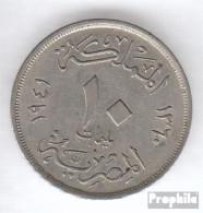 Ägypten KM-Nr. : 364 1938 Sehr Schön Kupfer-Nickel Sehr Schön 1938 10 Milliemes Farouk - Aegypten