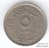 Ägypten KM-Nr. : 363 1941 Sehr Schön Kupfer-Nickel Sehr Schön 1941 5 Milliemes Farouk - Aegypten