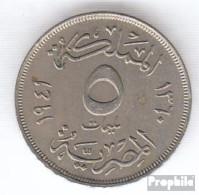 Ägypten KM-Nr. : 363 1941 Vorzüglich Kupfer-Nickel Vorzüglich 1941 5 Milliemes Farouk - Aegypten