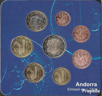 Andorra 2014 Stgl./unzirkuliert Offizieller Einwohnersatz, Auflage: 70.000 2014 EURO-Erstausgabe - Andorra