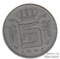 Belgien KM-Nr. : 130 1941 Sehr Schön Zink Sehr Schön 1941 5 Francs Leopold III. - 1934-1945: Leopold III