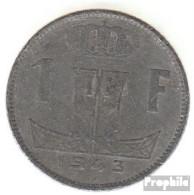 Belgien KM-Nr. : 128 1943 Sehr Schön Zink Sehr Schön 1943 1 Franc Löwe Auf Schild - 1934-1945: Leopold III.