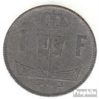 Belgien KM-Nr. : 128 1944 Sehr Schön Zink 1944 1 Franc Löwe Auf Schild - 1934-1945: Leopold III.