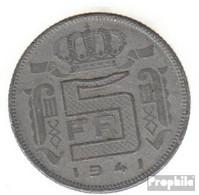 Belgien KM-Nr. : 130 1941 Vorzüglich Zink Vorzüglich 1941 5 Francs Leopold III. - 1934-1945: Leopold III