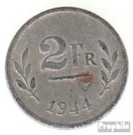 Belgien KM-Nr. : 133 1944 Vorzüglich Eisen Verzinkt Vorzüglich 1944 2 Francs Alliierte Besetzungsausgab - 1934-1945: Leopold III