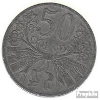 Böhmen Und Mähren Jägernr: 622 1941 Sehr Schön Zink Sehr Schön 1941 50 Heller Wappenlöwe - [ 4] 1933-1945 : Tercer Reich